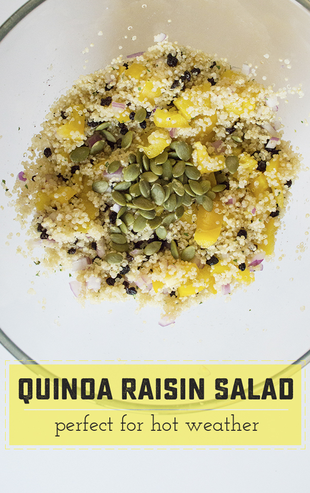 Refreshing quinoa salad - great for hot summers because its cool and light! Saynotsweetanne.com