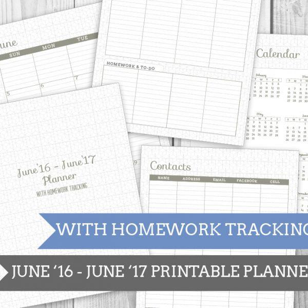 Geo Grey Homework Planner