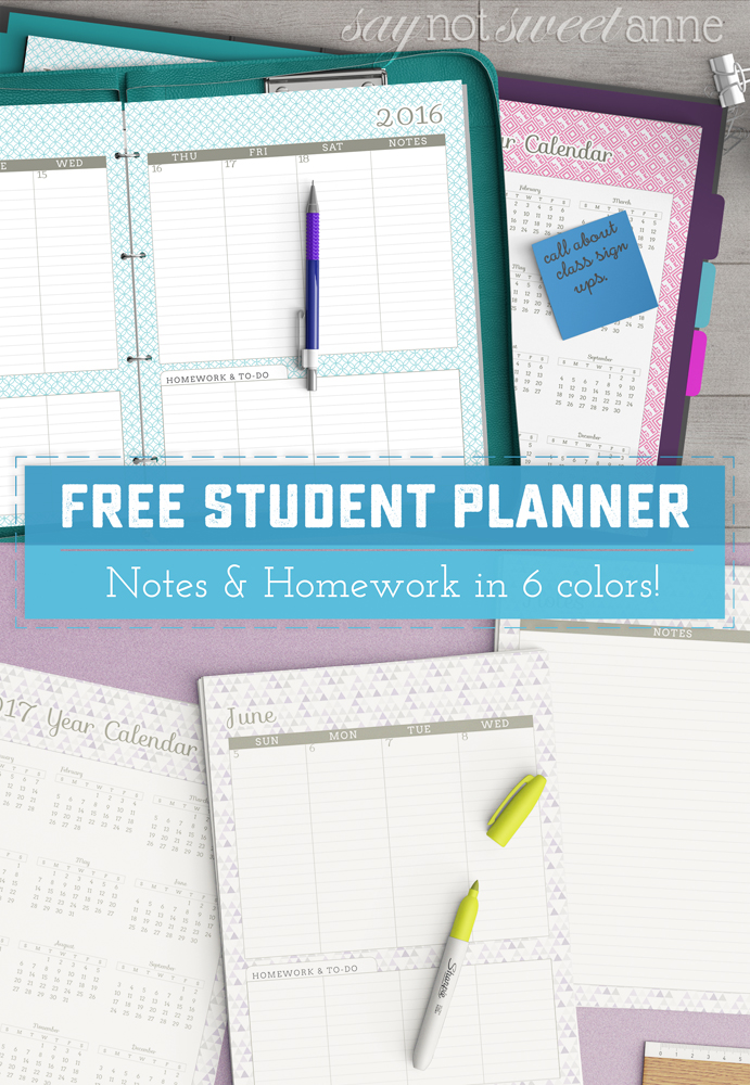 It is a photo of Priceless Printable Academic Planner