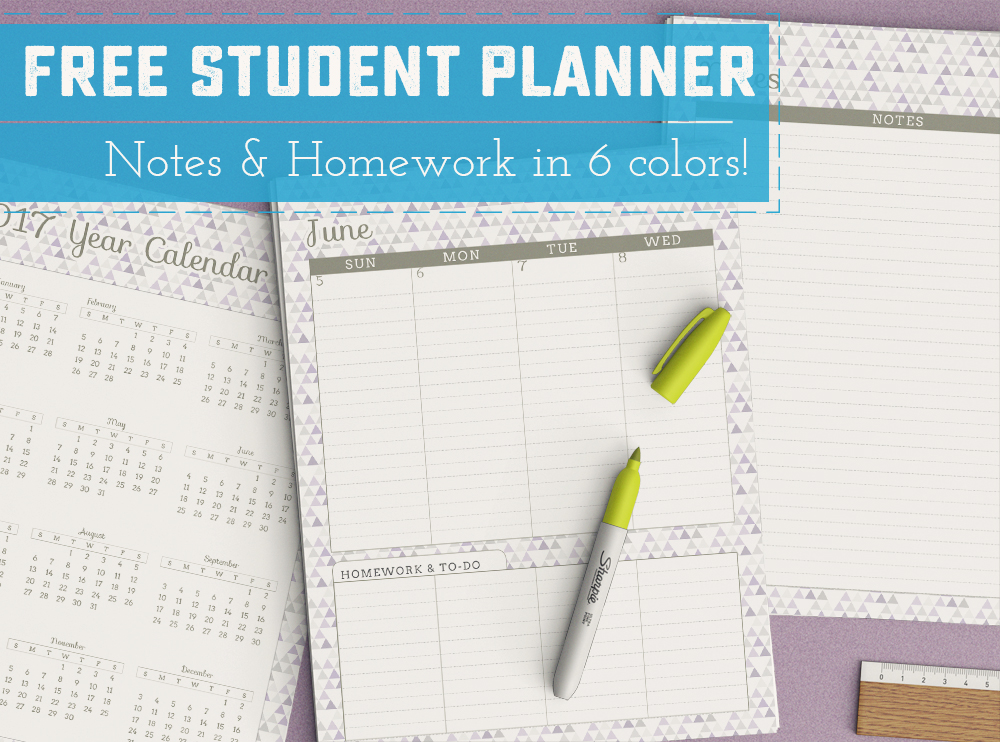 FREE June U002716   June U002717 Printable Student Planner   Perfect For Back To
