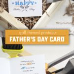 Printable Grill Themed Father's Day Card