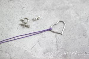 Easy and Beautiful DIY Bracelet. Perfect for kids and beginners, classy enough for fashionistas!   saynotsweetanne.com