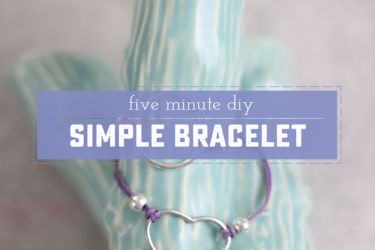 Easy and Beautiful DIY Bracelet. Perfect for kids and beginners, classy enough for fashionistas! | saynotsweetanne.com