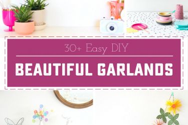 Easy DIY Garlands - 30 different tutorials, for every occasion! | saynotsweetanne.com