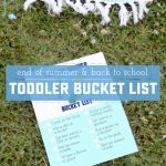 Toddler Back to School Bucket List