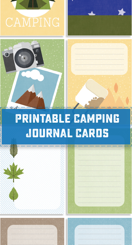 graphic relating to Free Printable Journal Cards known as Printable Tenting Magazine Playing cards - Cute Anne Styles