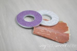 A more refined technique for a simple Washer Necklace. These lovely charms are made from every day materials, but look upscale and can be totally unique!   saynotsweetanne.com