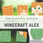 Minecraft Alex Printable Costume