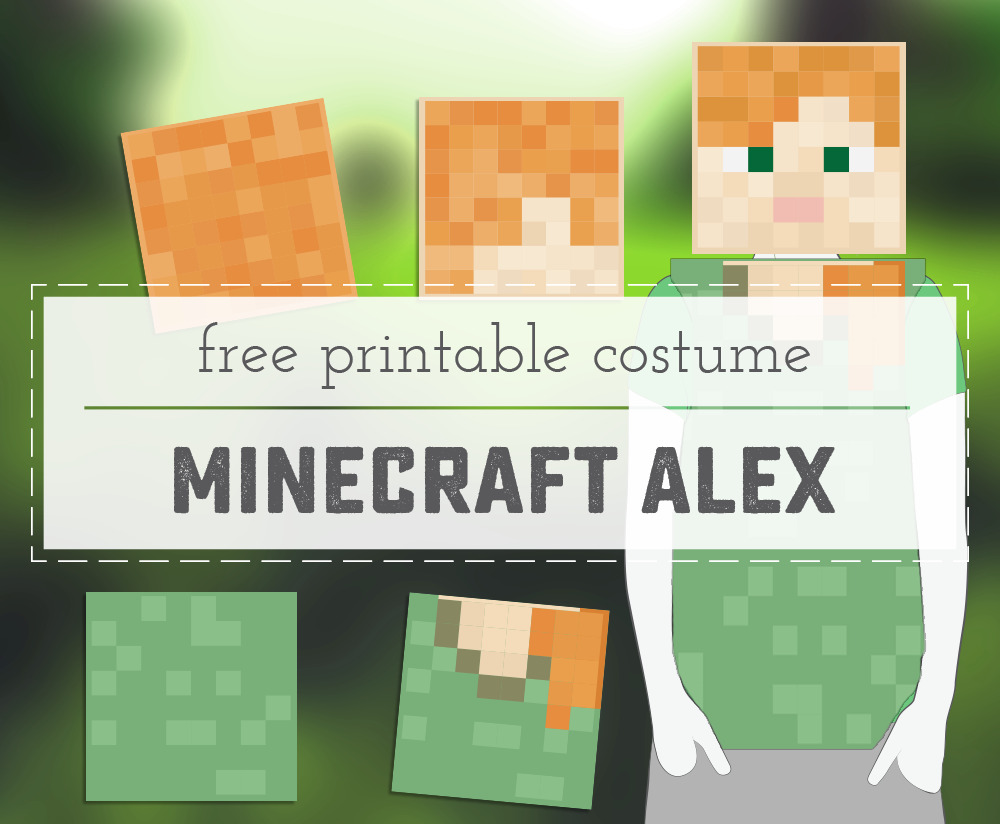 minecraft alex printable costume - sweet anne designs