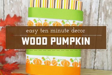 Quick and Adorable Wood Pumpkin | Saynotsweetanne.com