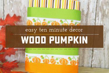 Quick and Adorable Wood Pumpkin | Saynotsweetanne.com