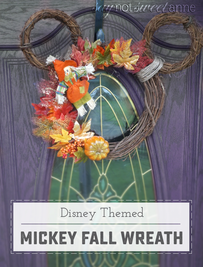 Mickey Mouse Fall Wreath Sweet Anne Designs