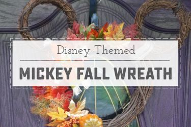 Adorable Mickey Mouse Fall Wreath! Easy to make, and so cute for Fall! | saynotsweetanne.com