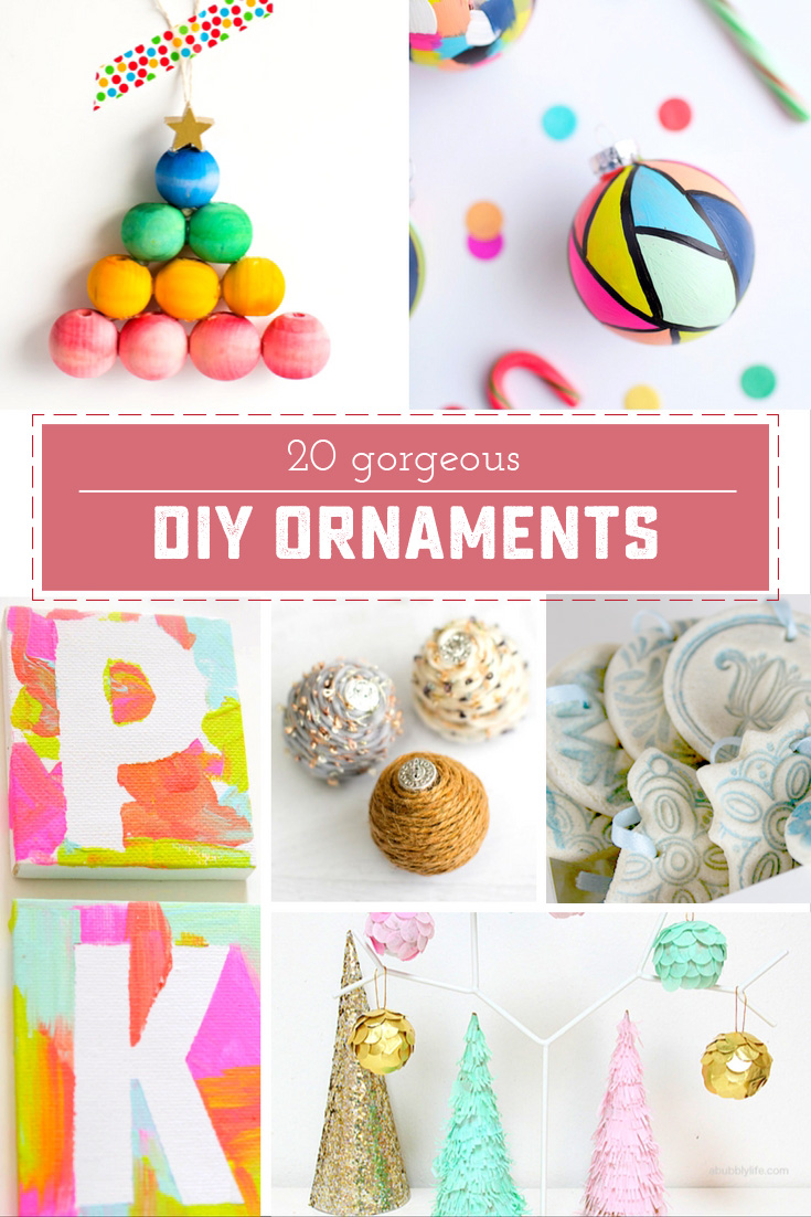20 Beautiful DIY Christmas ornaments! Make your holiday decor extra special, or make something beautiful to give away! | saynotsweetanne.com