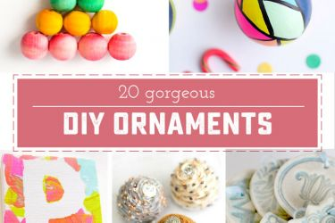 20+ Beautiful DIY Christmas ornaments! Make your holiday decor extra special, or make something beautiful to give away! | saynotsweetanne.com
