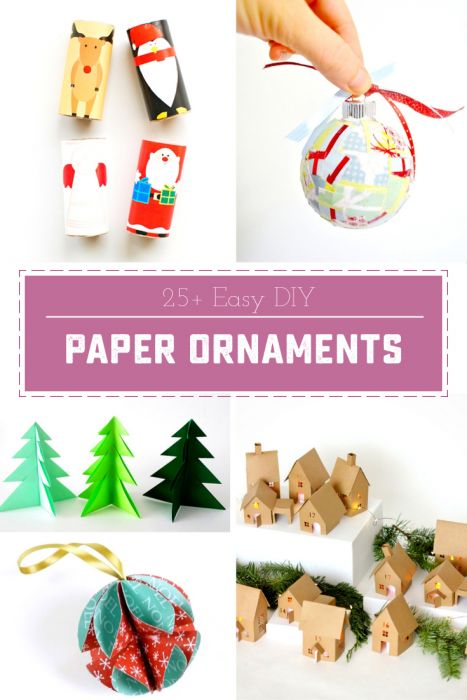 20+ Adorable DIY Ornaments made from paper | saynotsweetanne.com