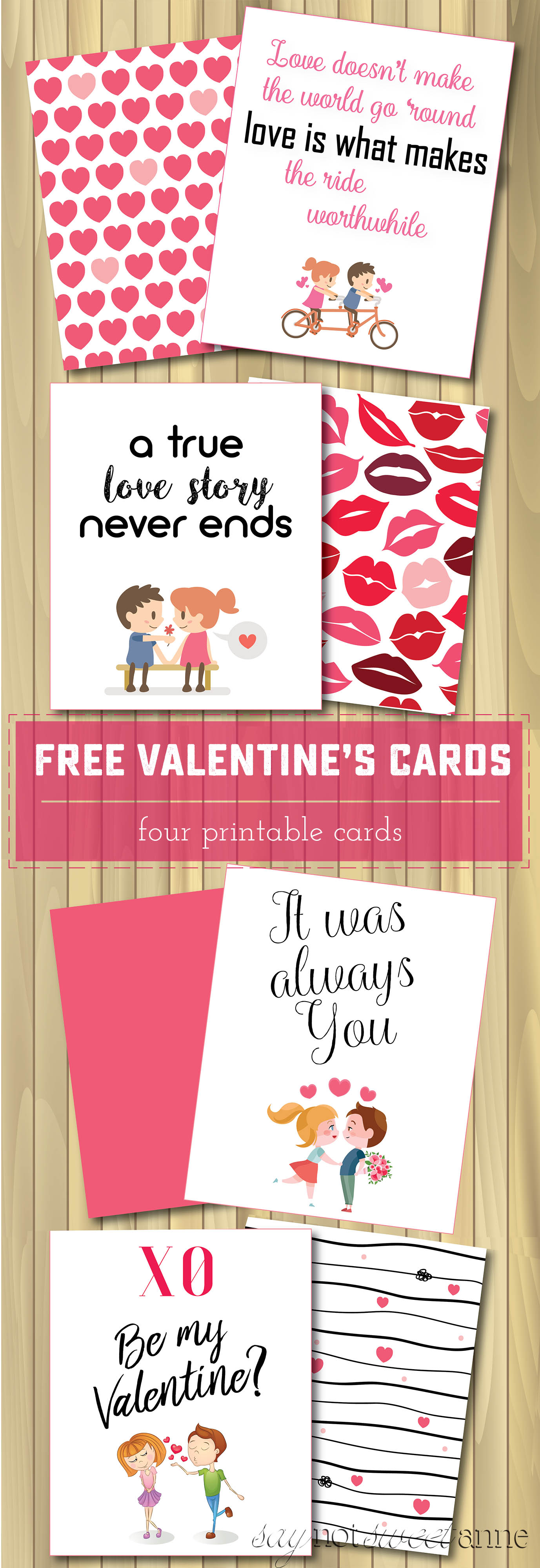 Printable Valentines Day Cards Sweet Anne Designs – Great Valentine Cards