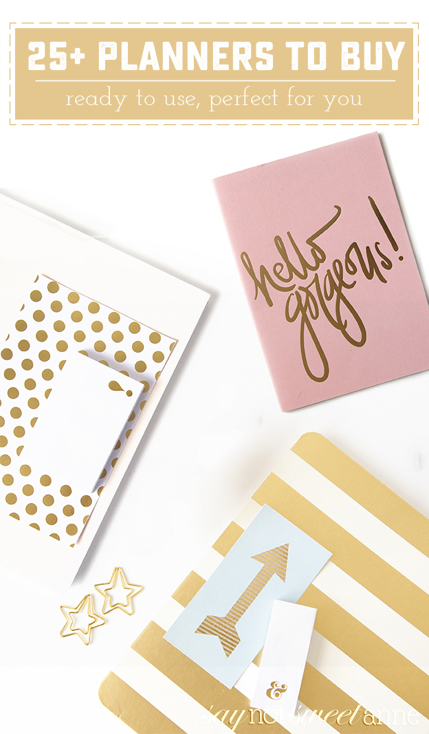 25 great planners to buy on Amazon! Find exactly what suits you for the new year!   saynotsweetanne.com