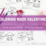 Printable Coloring Book Valentines