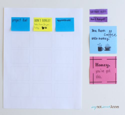 Print On Sticky Notes Or Post Its It Is Easy And Fun Making Custom
