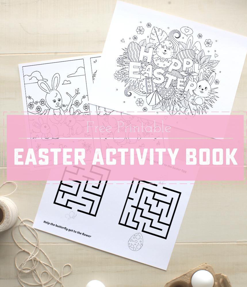 picture regarding Printable Activity Books named Printable Easter Sport E-book - Adorable Anne Options