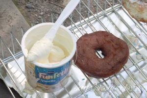 Easy Early Bird Camp Donuts - A great way to wake up at home or in the woods! Use a few basic ingredients and your camp stove to make a sweet breakfast or dessert. | Saynotsweetanne.com