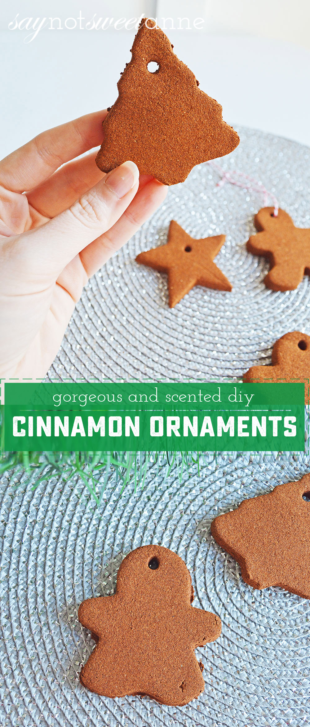Easy DIY Cinnamon Ornaments! Perfect to spice up your tree, give as gifts, or just play dough with!