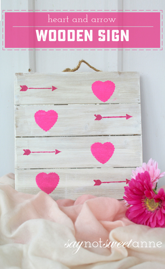 Love DIY Wooden Valentine - Easy and lovely, perfect for decor or a gift! | saynotweetanne.com