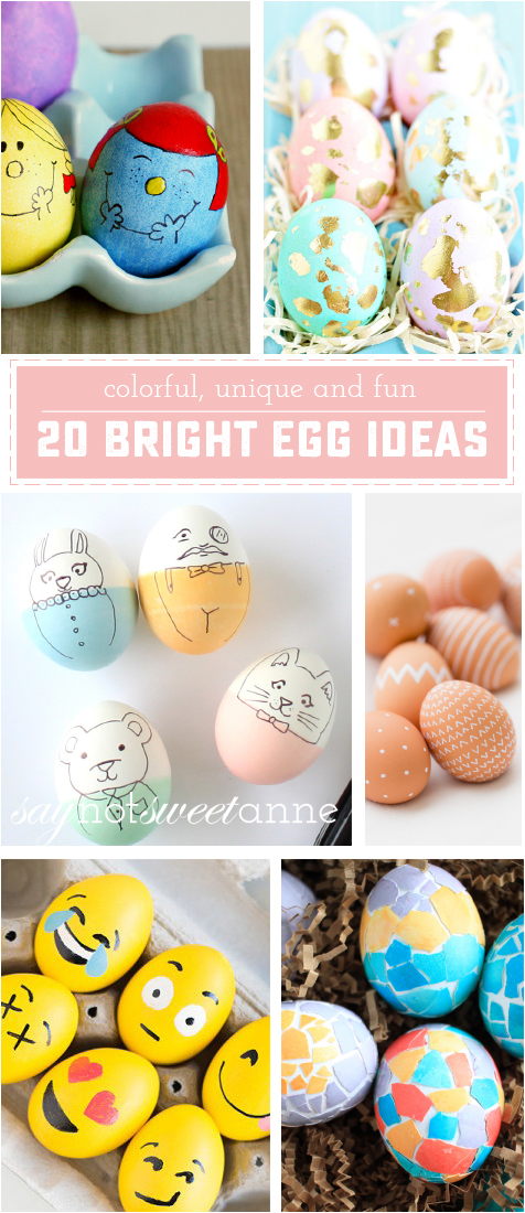 20 Colorful and Bright Easter Egg How To Ideas! Perfect place to get out of your Egg rut! | ssaynotsweetanne.com