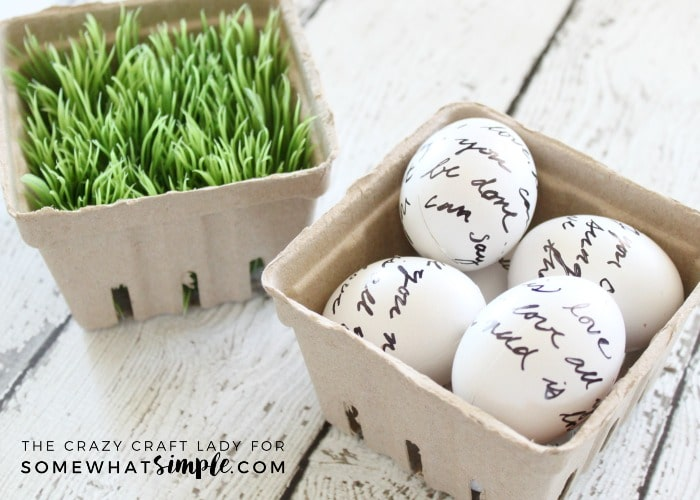 Love Letter Eggs by Somewhat Simple • 20 Colorful and Bright Easter Egg How To Ideas! Perfect place to get out of your Egg rut! | saynotsweetanne.com