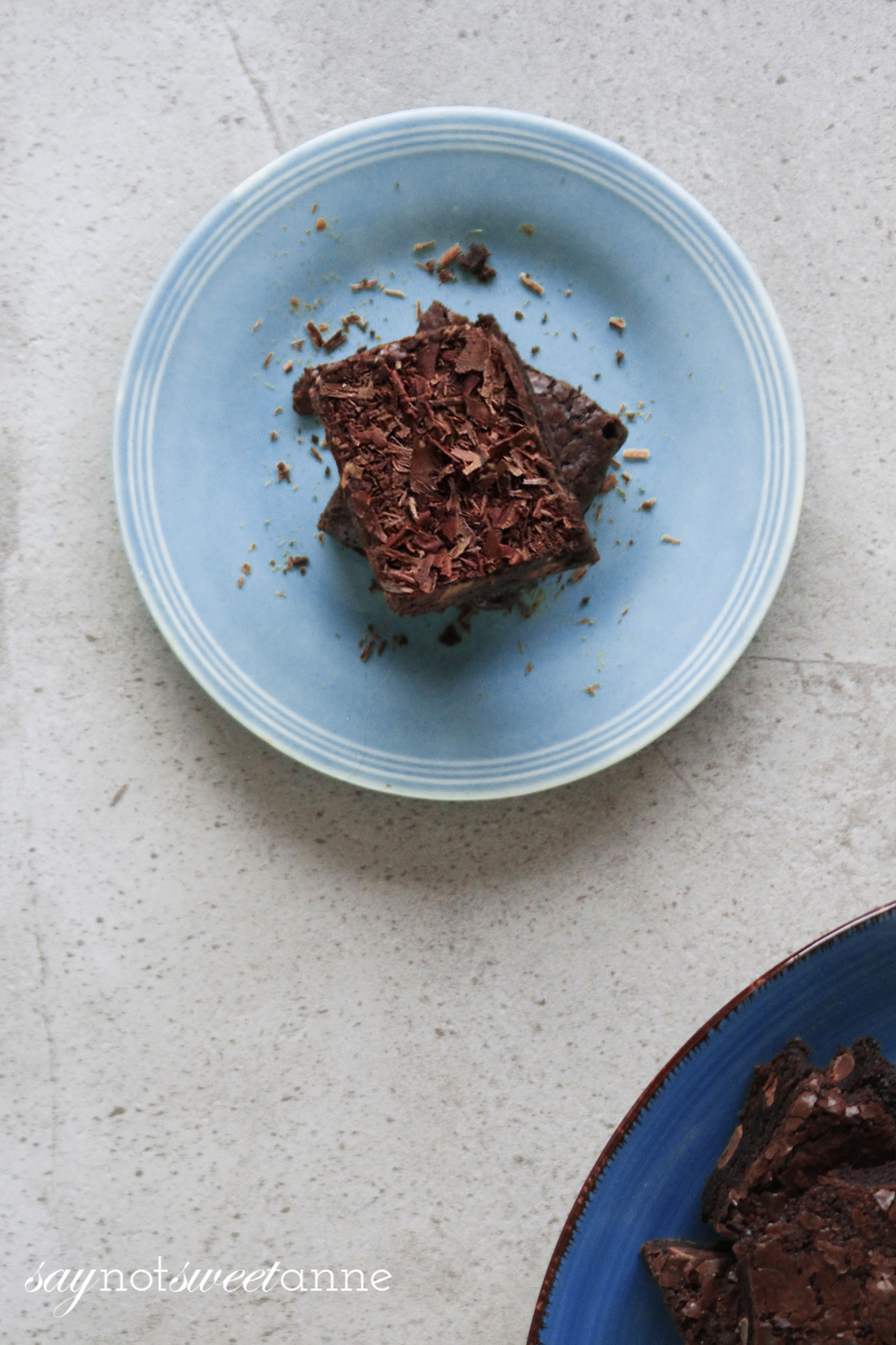 Dark Magic Chocolate Mocha Brownies A yummy cuppa-joe infused recipe! | saynotsweetanne.com
