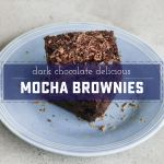 Dark Magic Chocolate Mocha Brownies