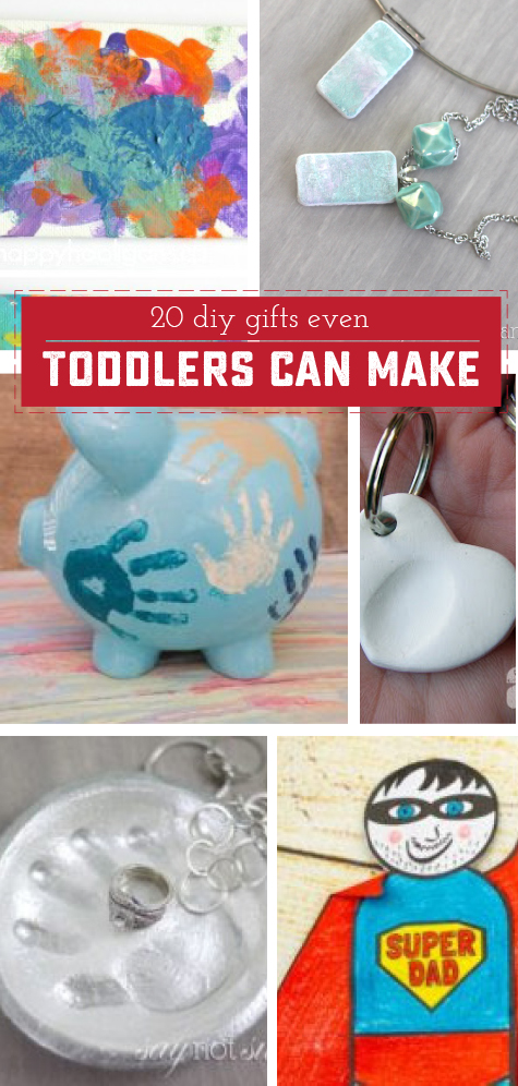 20 amazing gifts for toddlers to make! These hand crafted activities make great Father's Day, Mother's Day, Birthday or Christmas gifts for loved ones | saynotsweetanne.com