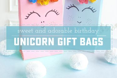 A perfect Unicorn Birthday idea or gift for princesses, princes and even moms! Everyone needs a little magic in their lives, and these easy gift bag tutorial is sure to brighten any party! | saynotsweetanne.com
