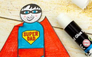 Flying Superhero Dad's Gift by Kids Craft Room