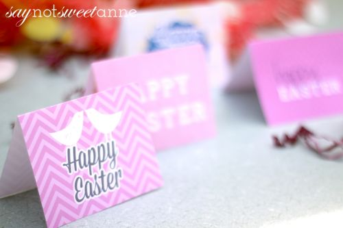 Free Printable Easter cards and Envelopes! Perfect for last minute or extra special gifts and tidings. | saynotsweetanne.com