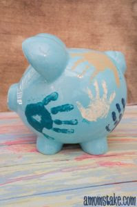 Personalized Piggy Bank by A Moms Take