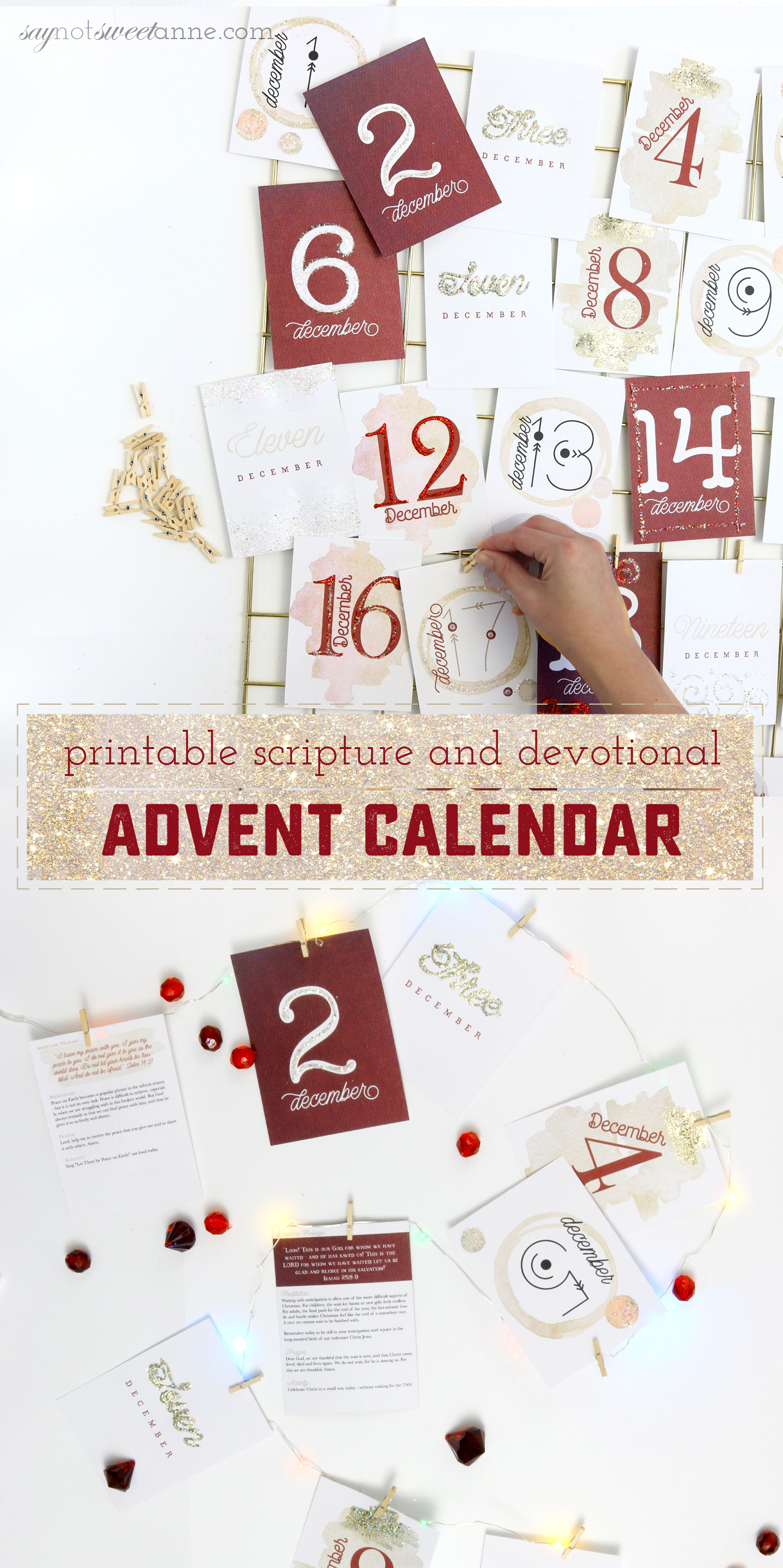 picture relating to Printable Advent Calendar titled How towards Produce a Desirable and Significant Printable Arrival