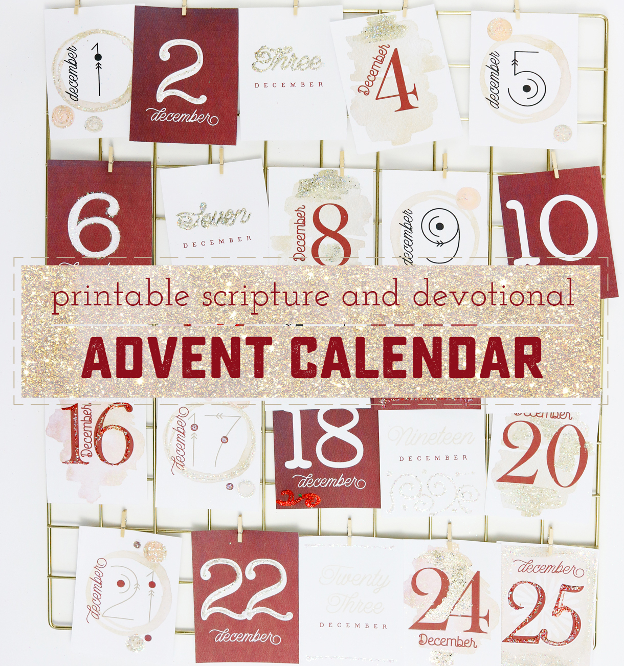 image regarding Advent Calendar Printable titled How in the direction of Create a Attractive and Significant Printable Arrival