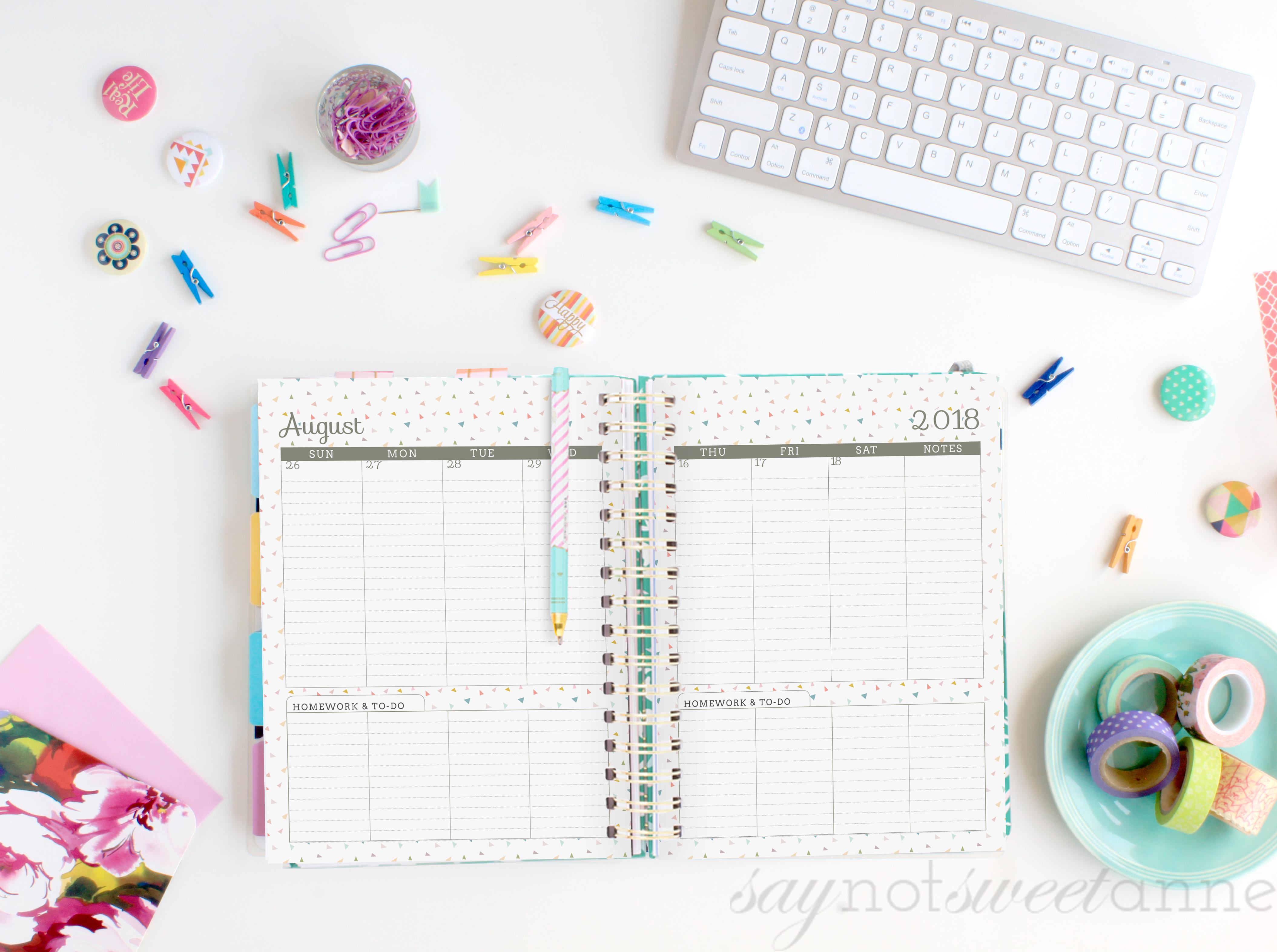 2019 Printable Planners - Sweet Anne Designs