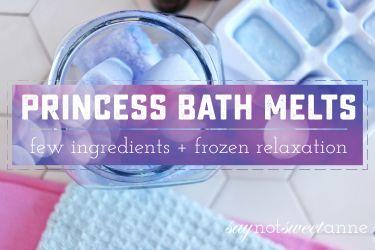 Princess Bath Melts | Saynotsweetanne.com