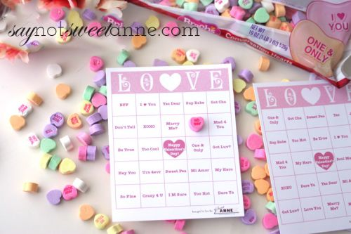 It is a picture of Printable Valentine Bingo Cards pertaining to preschool