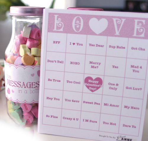 It's just a graphic of Valentine Bingo Free Printable for colorful