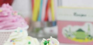 Easy DIY Faux Cupcakes! They look like the real thing, but will last forever! Great for ornaments, decorations, or photo props! | Saynotsweetane.com | #diy #prop #decor #cute