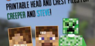 Easy Printable DIY Creeper and Steve costumes! | saynotsweetanne.com | #halloween #minecraft #costume